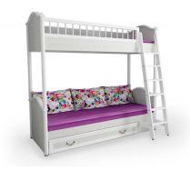 Двухъярусная кровать с лестницей серия Классика