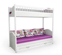 Двухъярусная кровать без лестницы серия Классика