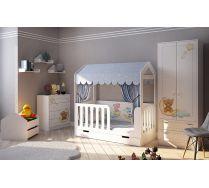 Детская мебель Мишки Тедди и кровать Домик Сказка