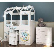 Детская кровать-чердак ДС-14 с рисунками