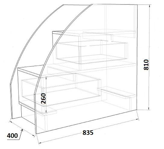 кровать чердак Фанки Кидз - 9
